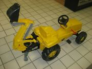 Rolly Troys Kids Ride On Pedal Tractor Backhoe Loader Excavator Digger Toy 81300