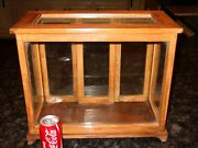 Antique Tabletop Countertop Wood And Glass Display Case Cabinet-----15586