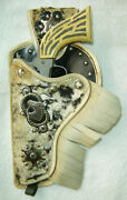 Vintage Rare Sheriff Toy Cap Gun With Faux Fur Holster
