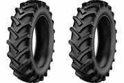 Two 5.00-15 Starmaxx Tr-60 R-1 Lug Compact Farm Tractor Tires And Tubes 6 Ply