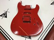 1987 Gibson Usa Wrc Charvel Strat Style Guitar Body Red