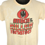 Attack Of The Killer Tomatoes T Shirt Vintage 70s 1978 Movie Promo Size Small