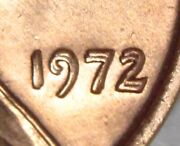 1972/72 Doubled Die Lincoln Cent Superb Gem Bu Red The Big One Flashy