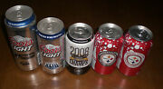 5 Different Steelers Super Bowl Xliii Cans - Coors Light Beer - Iron City - Coke