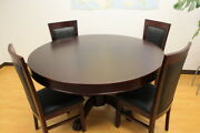 Mrc Poker Table The Mystic Mahogany Round Table Solid Wood Legs Plus Dining Top