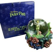 Vintage Disney Tinkerbell Musical Snow Globe Peter Pan You Can Fly Neverland