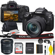 Canon Eos 90d Dslr Camera With 18-55mm Lens, Sigma 18-35mm Lens, Soft Padded