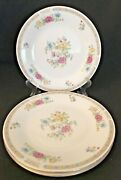 3 Liling Fine China Yung Shen Ling Rose Dinner Plates