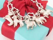 And Co Silver Dog Charm Bracelet - Poodle Dachshund Labrador Terrier 7.5
