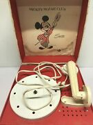 Vintage Mickey Mouse Club Phonograph Record Player 1950s By Lionel Toy Co. 41015