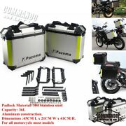 36l Motorcycle Side Saddle Bags Luggage Cases Storage Trunk Aluminum Box For Bmw