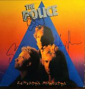 The Police Band Signed Album W/coa And Signing Photos