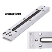 Stainless Silver Fixture Tool 220x50x15mm For Clamping Leveling Metalworking Usa