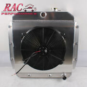 3 Row Radiator And Shroud And 16in. Fan Fit 1955-1959 Chevy Truck Pickup Apache At