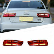 For Auid A6 2012-2016 Led Taillight Brake Trunk Light Dynamic Turn Signal