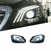 For Benz W213 16-20 Led Daytime Running Lights Dynamic Signal Xenon Lo/hi Beam
