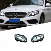 For Benz W205 14-20 Led Daytime Running Lights Dynamic Signal Xenon Lo/hi Beam