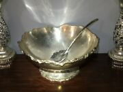 Michael Aram 13and039and039 X 6and039and039 Large Stainless Steal Silver Bowl W/ Spoon