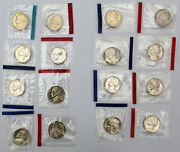 1980s Us Jefferson Nickels From Mint Sets 16 Coins In Mint Cello 1980 - 1989