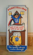 Vintage Rare Pbr Pabst Blue Ribbon Since 1844 Wooden Bar Sign Pirate Hat
