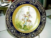 Antique Rsp Royal Vienna Beehive German China Plate - Nymph And 3 Cherubs