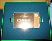 New Limited Starbucks 2013 Limited Edition Rose Metal Gold Gift Card Zero 0 Bal