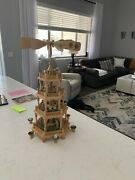 Vintage German Christmas Pyramid Deluxe 4 Tier Large Size 23 Nativity Figures