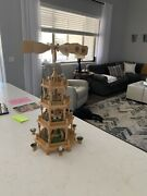 Vintage German Christmas Pyramid Deluxe 4 Tier, Large Size 23, Nativity Figures