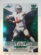 Justin Fields 2021 Leaf Ultimate Sports Young Stars Rc Green Holo Foil 4/25