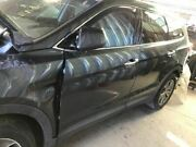 13 Hyundai Santa Fe Driver Front Door Automatic Up And Down Feature Grey