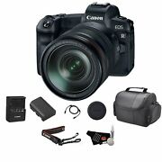 Canon Eos R Mirrorless Digital Camera With 24-105mm Lens Bundle With Carrying