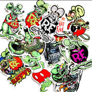 Rat Fink Ed Roth Rat Rod Hot Rod Motorcycle Stickers Racing Decals / Lot Of 10