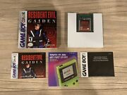 Resident Evil Gaiden 2002 Nintendo Game Boy Color - Complete Authentic Tested Nm