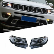 For Compass 18-20 Led Daytime Running Lights Dynamic Signal Xenon Lo/hi Beam