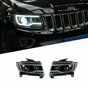 For Compass 11-17 Led Daytime Running Lights Dynamic Signal Xenon Lo/hi Beam