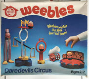 Vintage Weebles Daredevils Circus Playset Airfix Hasbro 1978 Near Complete