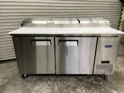 67 Refrigerated Pizza Prep Table 2 Door Cooler Make Station Atosa 5886