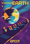 Epcot Spaceship Earth Serigraph Poster Numbered Le 13/100 Disney Parks Limited
