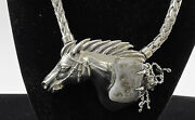 Barry Kieselstein Cord Sterling Silver Custom Horse Belt Buckle Necklace Charms