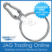 Aquatrack Anchor Retrieval Ring Set - Stainless Steel Anchor Assist And Snap Hook