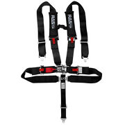 Universal Black/red 4 Point Camlock Quick Release Seat Belt Harness 3 Wide