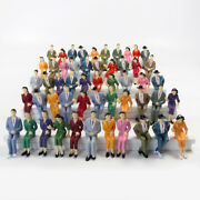 50pcs Model Train G Scale Sitting Figures 125 Painted Seated People 4 Poses