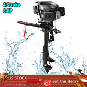 4 Stroke 6 Hp Outboard Motor Boat Engine Three Blade W/ Air Cooling System