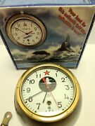 Vostok Russia Cold War Era Limited Edition Russian Submarine Clock With Box Ussr