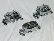 Lot Of 3 Chrome Street Rod Bail Top Master Cylinders 9/16 1/2 For Parts Repair
