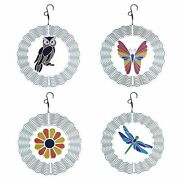 4 Styles Wind Spinner Sparkling Hanging 3d Metal Wind Chimes Sound Pendant Home