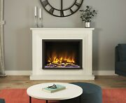 Modern Marble Stone Electric Fireplace Suite Elgin And Hall Pryzm Fire Cabrina