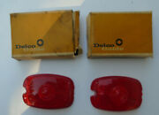 1937-1953 Chevrolet Pass. Car And Truck Tail Light Lenses Delco Guide 5937162 Nos