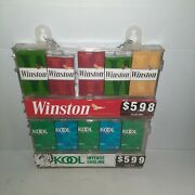 Winston And Kool Cigarettes Store Display Price Sign Advertising