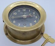 Vintage 1942 Chelsea Wwii U.s. Army Message Center M1 Brass Military Army Clock